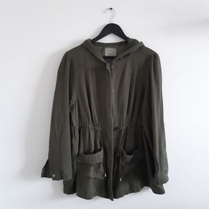 TORRID Olive Twill Anorak Hooded Jacket